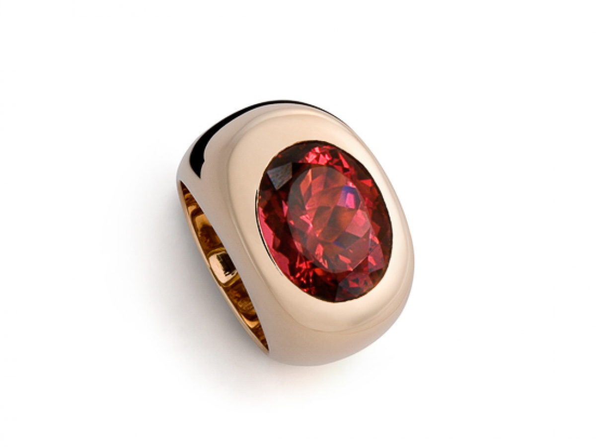 Ring 18 Karat Roségold 29,4 g, Turmalin 11,98ct