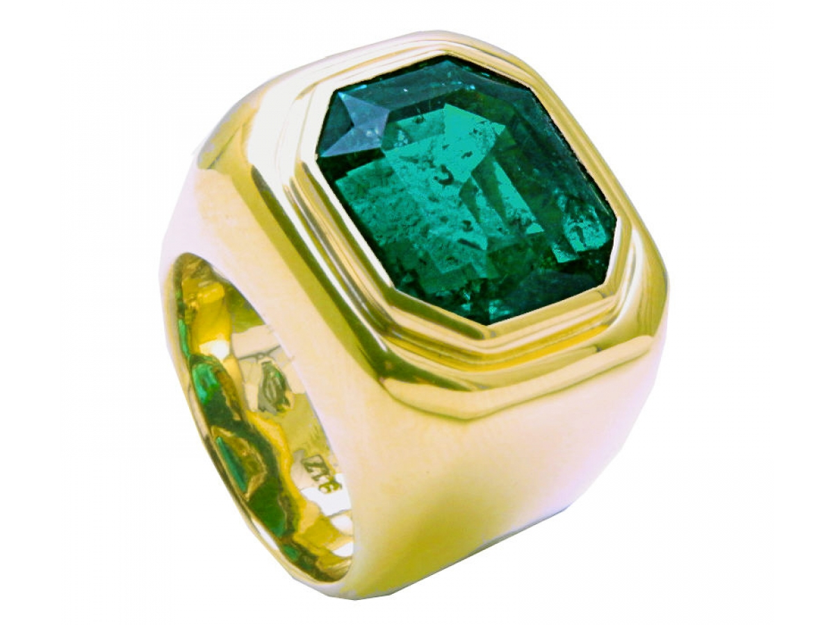 Ring 22 Karat GG 30,9g Smaragd 12,25 ct (Kundenstein)