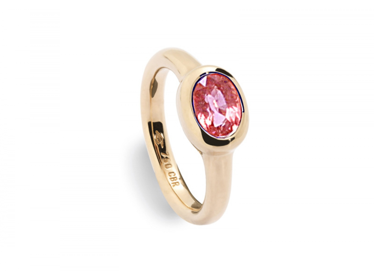 Ring Precious little something 18 Karat Roségold 6,1 g, Turmalin 1,71 ct