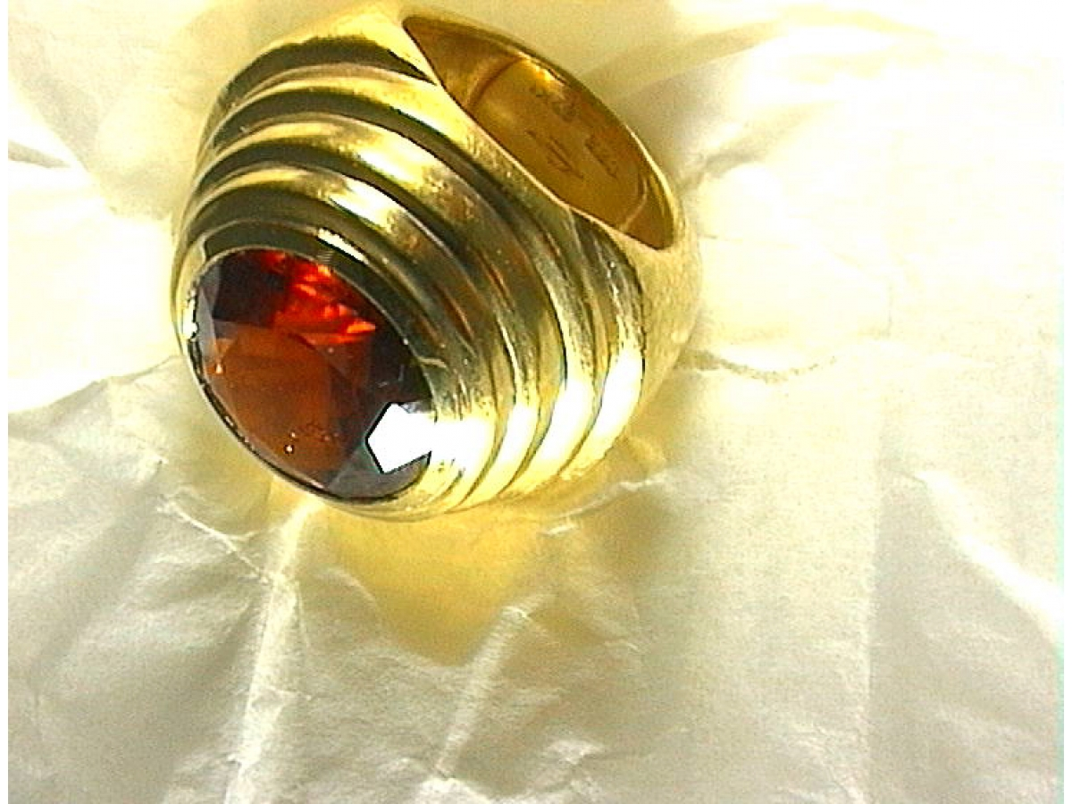 Ring Hessonit rot 12,47 ct 27,6 gr | 100.090.698.326