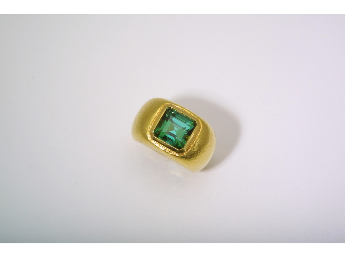 Ring  Turmalin viereck. 5,10 ct  27 gr | 100.210.698.628