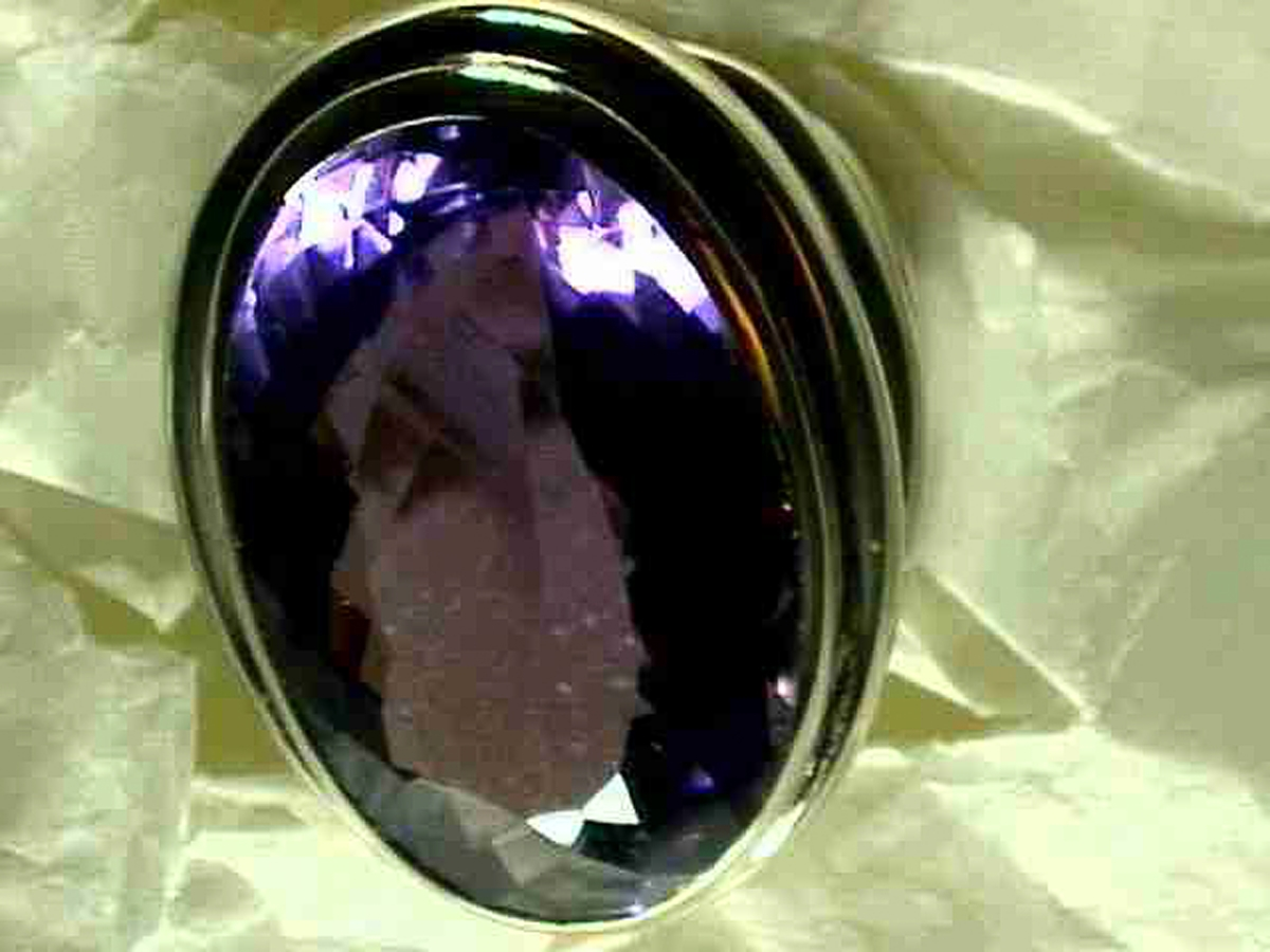 Ring wg Amethyst oval 26,28 ct | 100.040.698.214