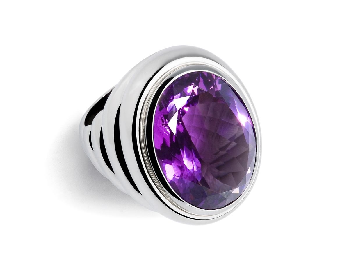 Ring 18 Karat WG 32,96g Amethyst 25,36 ct | 100.300.999.838