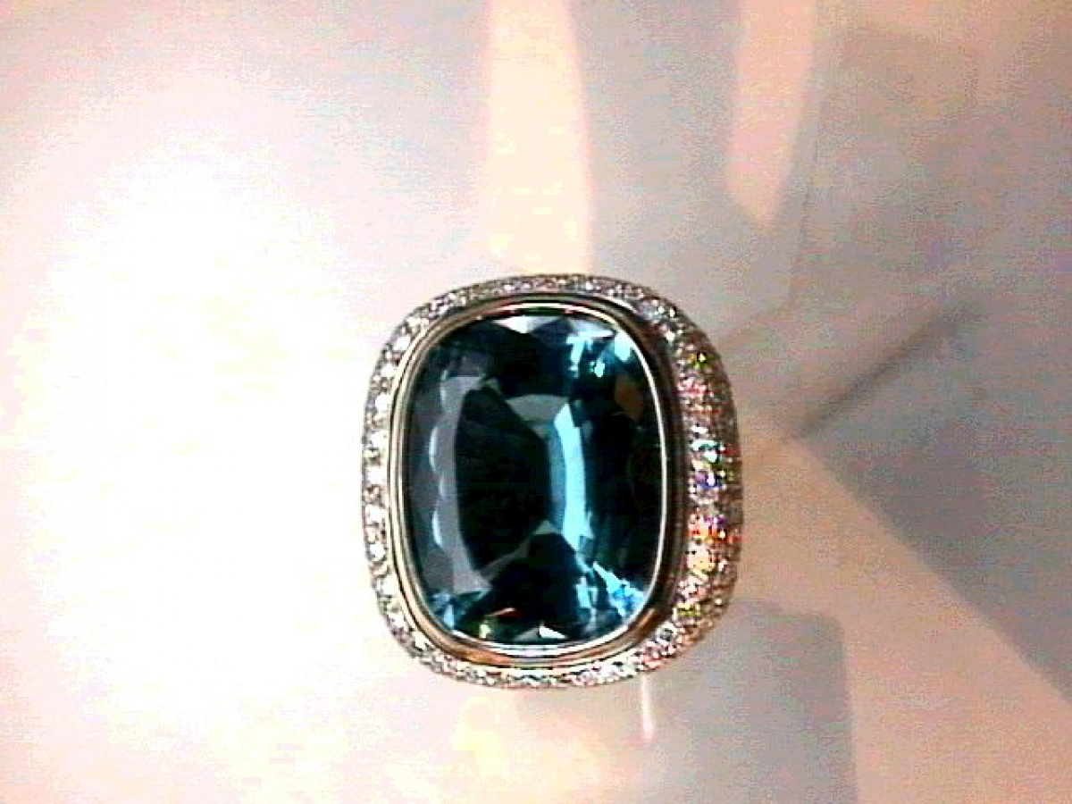 Ring wg Indigolith 17,66 ct mit Brill. 7,63 ct | 100.440.798.923