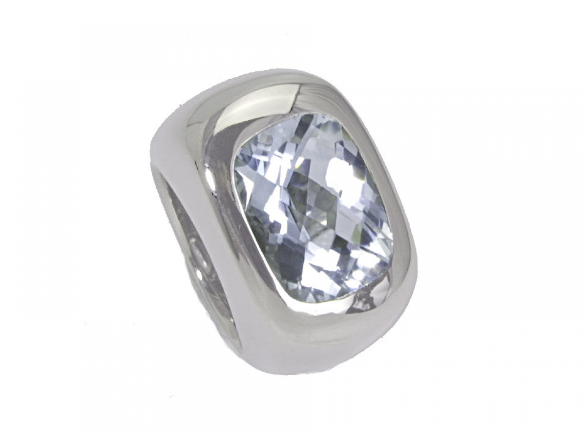 Ring 18 Karat WG 35,15g Topas 12,67 ct
