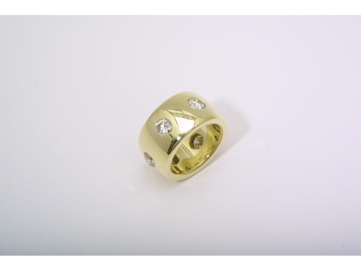 Ring grüngold champ. Brill. 3,37 ct - 34 gr | 100.421.502.985