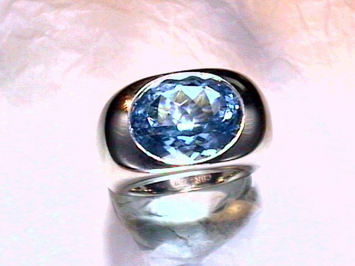 Ring* wg Aquamarin 9,96 ct - 22,6 gr | 100.470.898.148