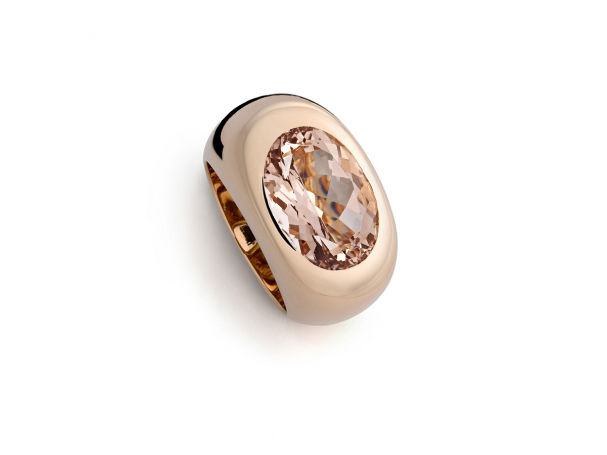 Ring 18 Karat Roségold 17,6 g, 1 Morganit 7,35 ct